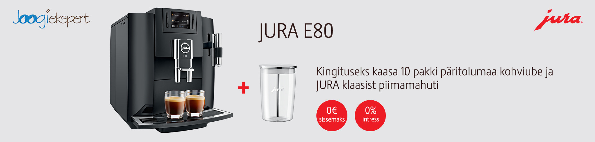 Kohvikeskus JURA E80 1920x460